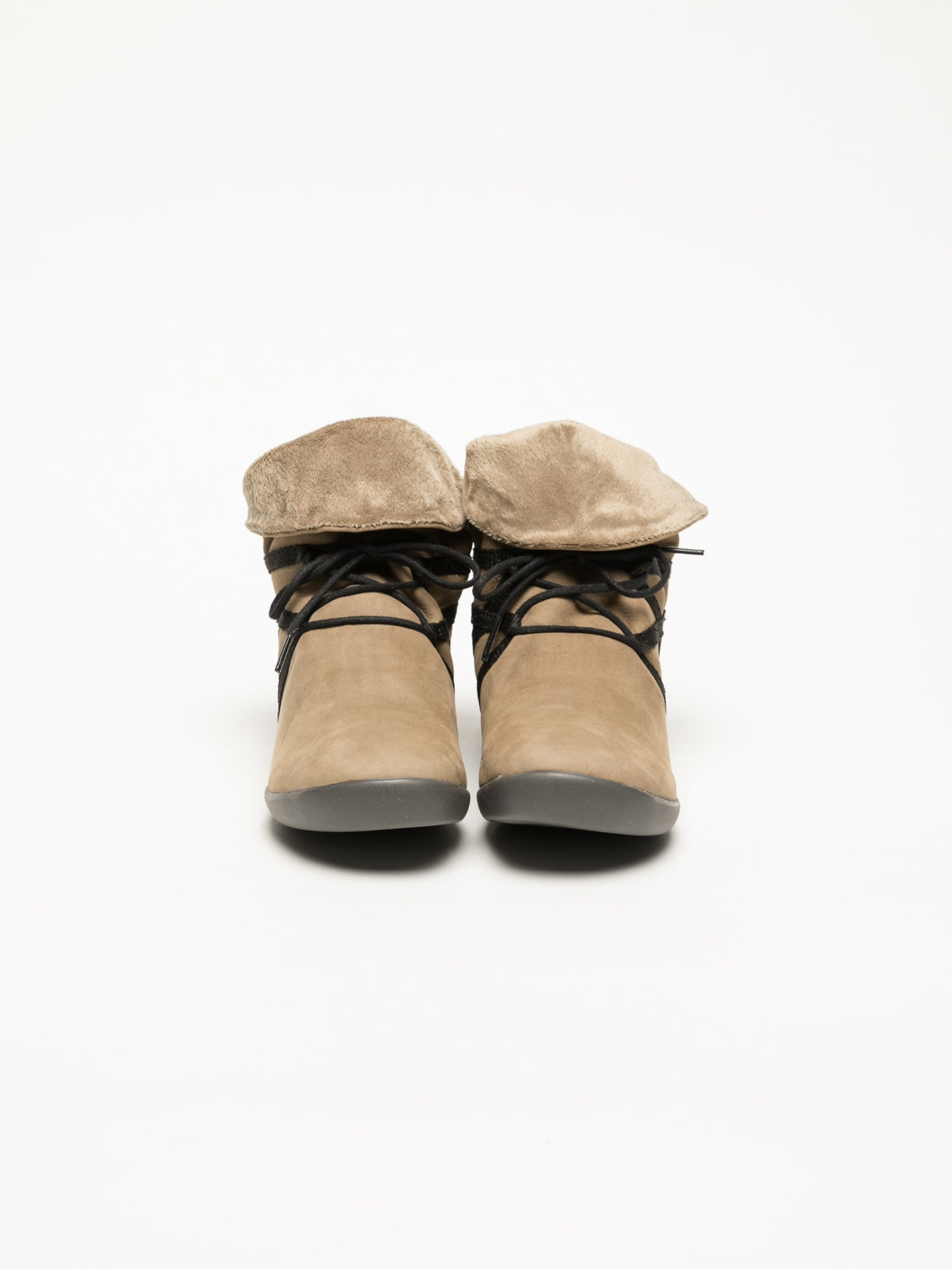 Softinos Tan Fluff Ankle Boots