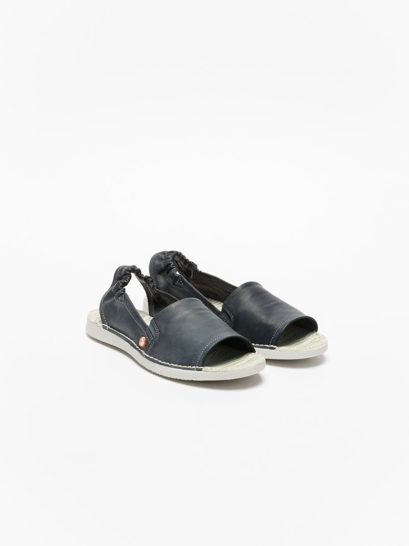 Softinos Blue Sling-Back Sandals
