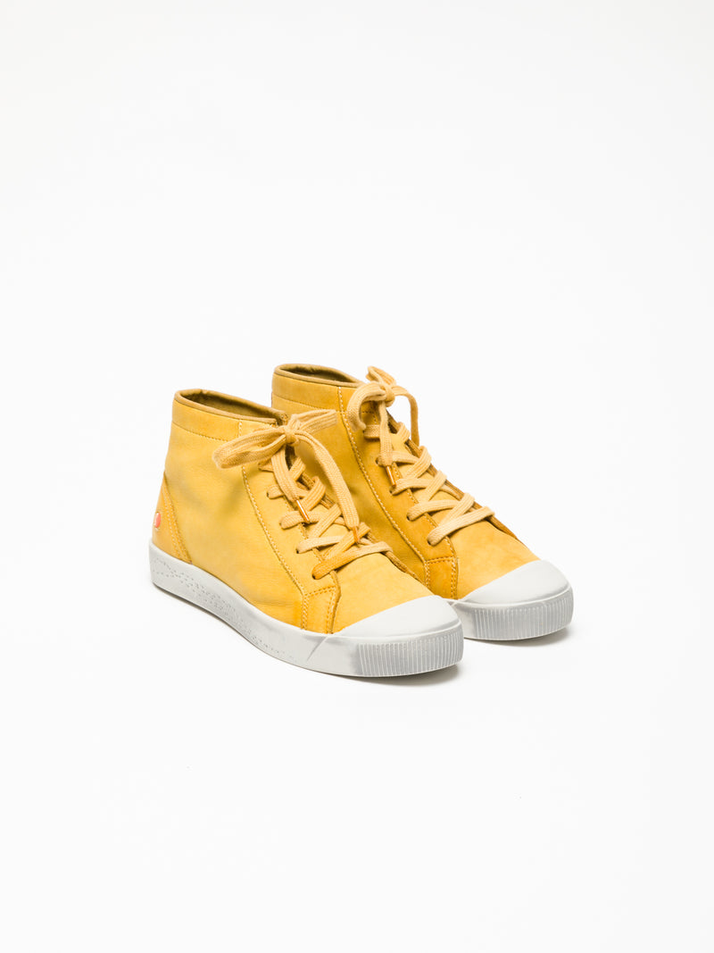 Yellow Hi-Top Sneakers