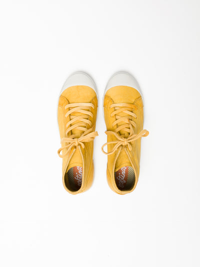 SOFTINOS Yellow Hi-Top Sneakers