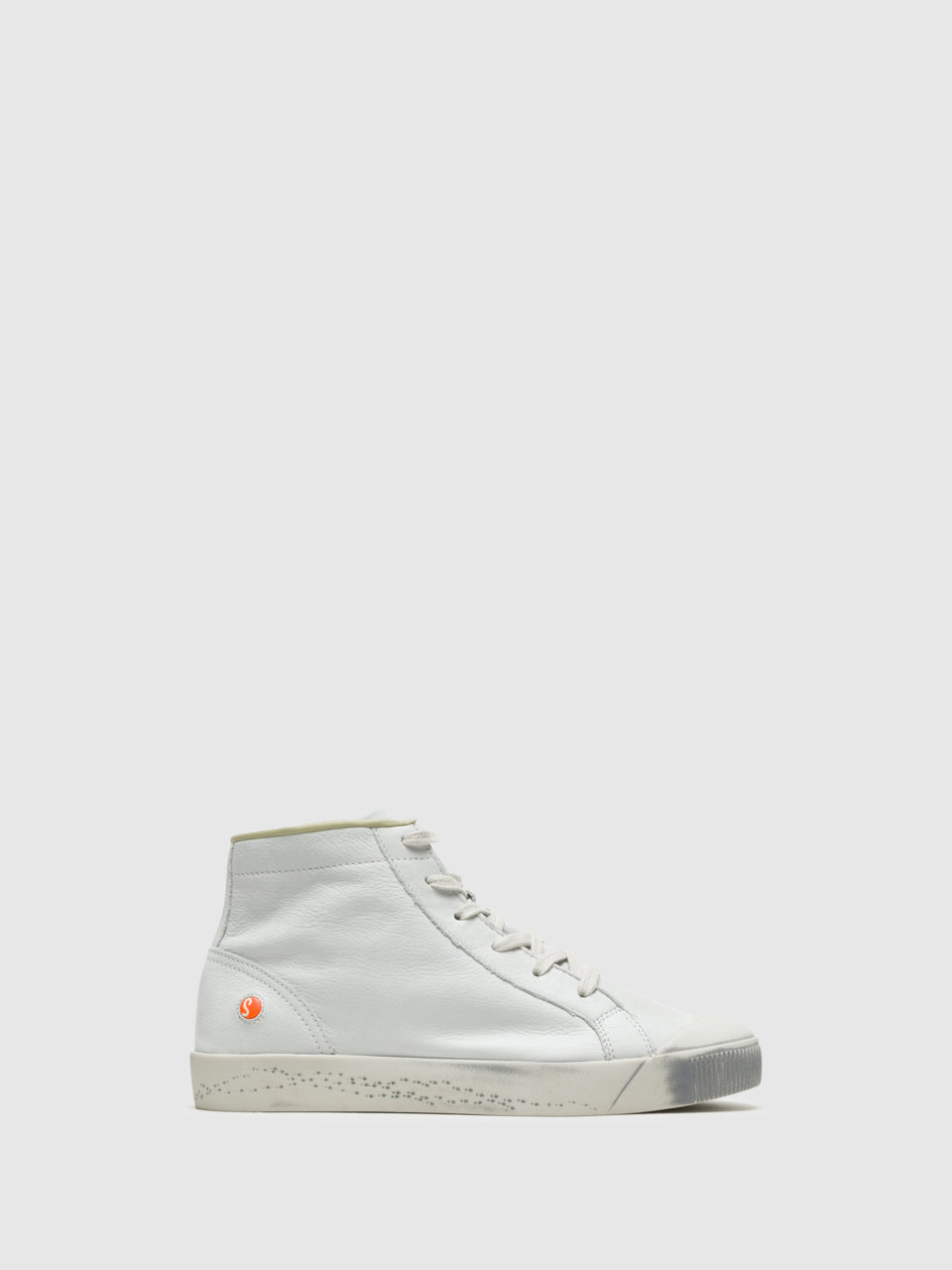 SOFTINOS White Hi-Top Trainers