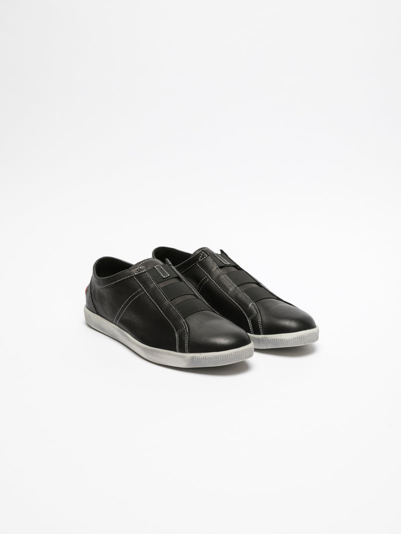 SOFTINOS Black Elasticated Sneakers