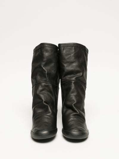 Softinos Black Zip Up Boots