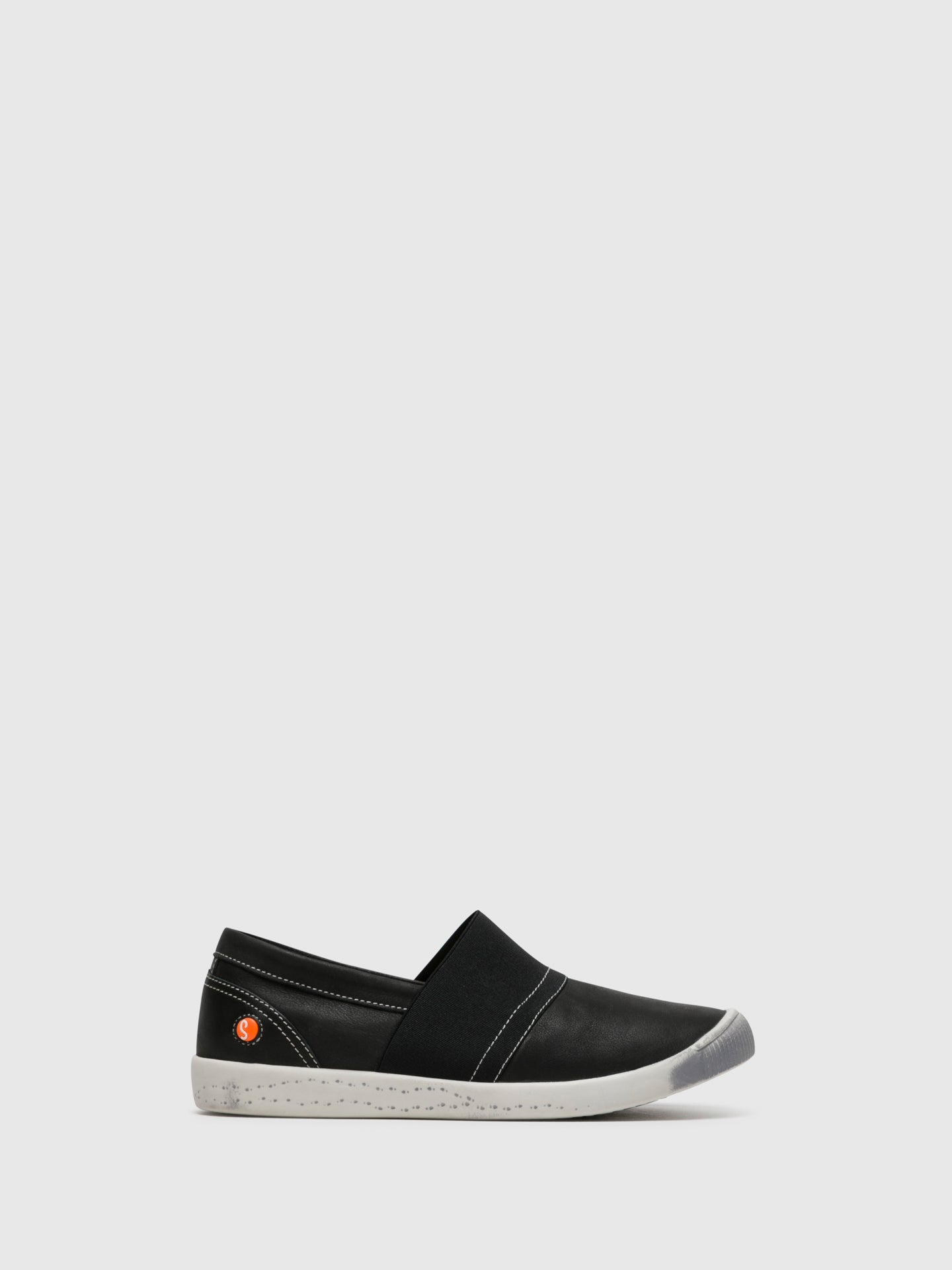 SOFTINOS Black Slip-on Sneakers