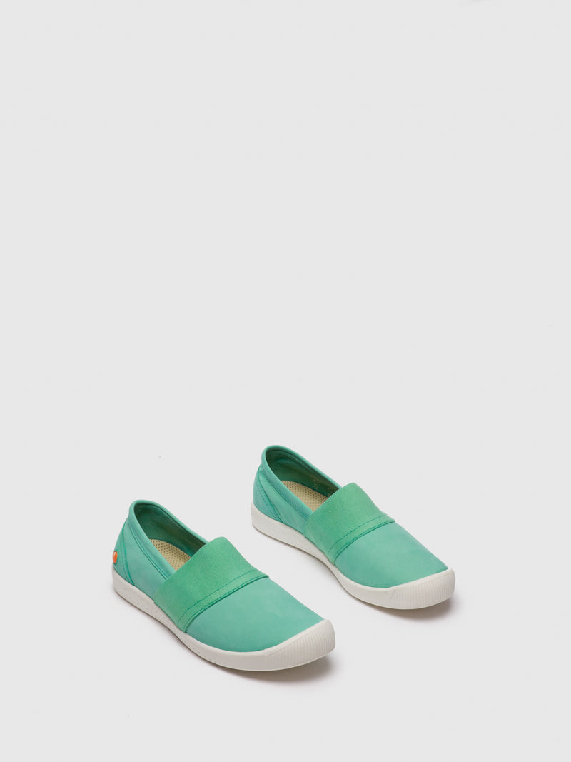 SOFTINOS Green Slip-on Shoes
