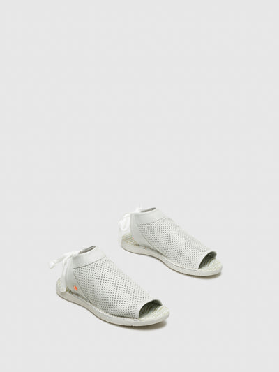 SOFTINOS White Flat Sandals