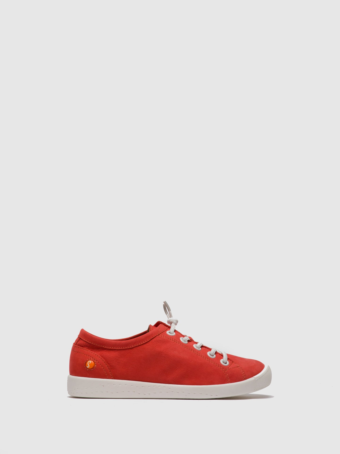Softinos Red Lace-up Shoes