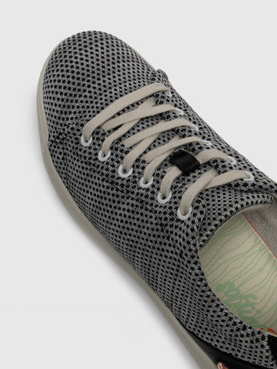 SOFTINOS Gray Black Lace-up Trainers