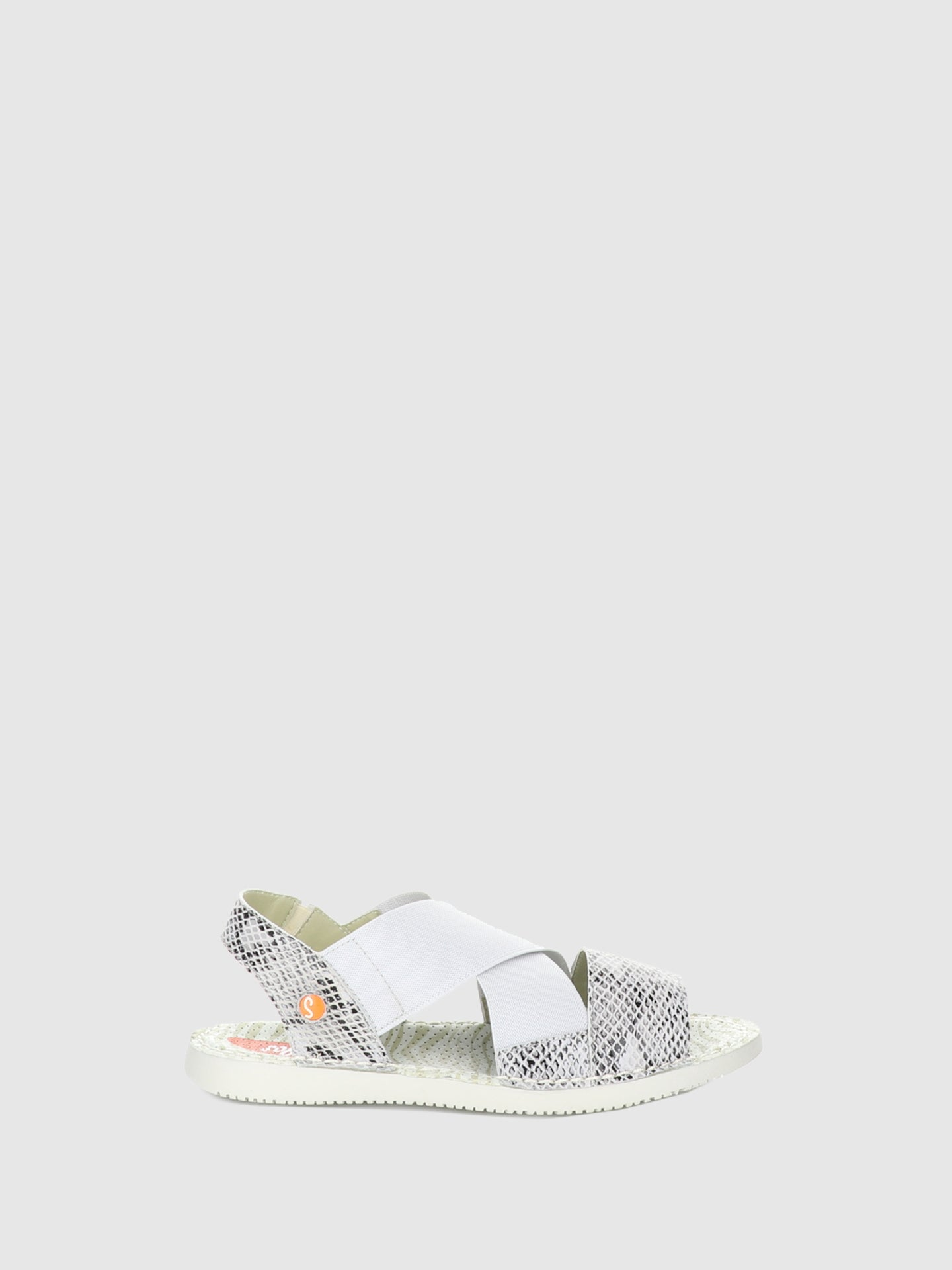 SOFTINOS White Sling-Back Sandals