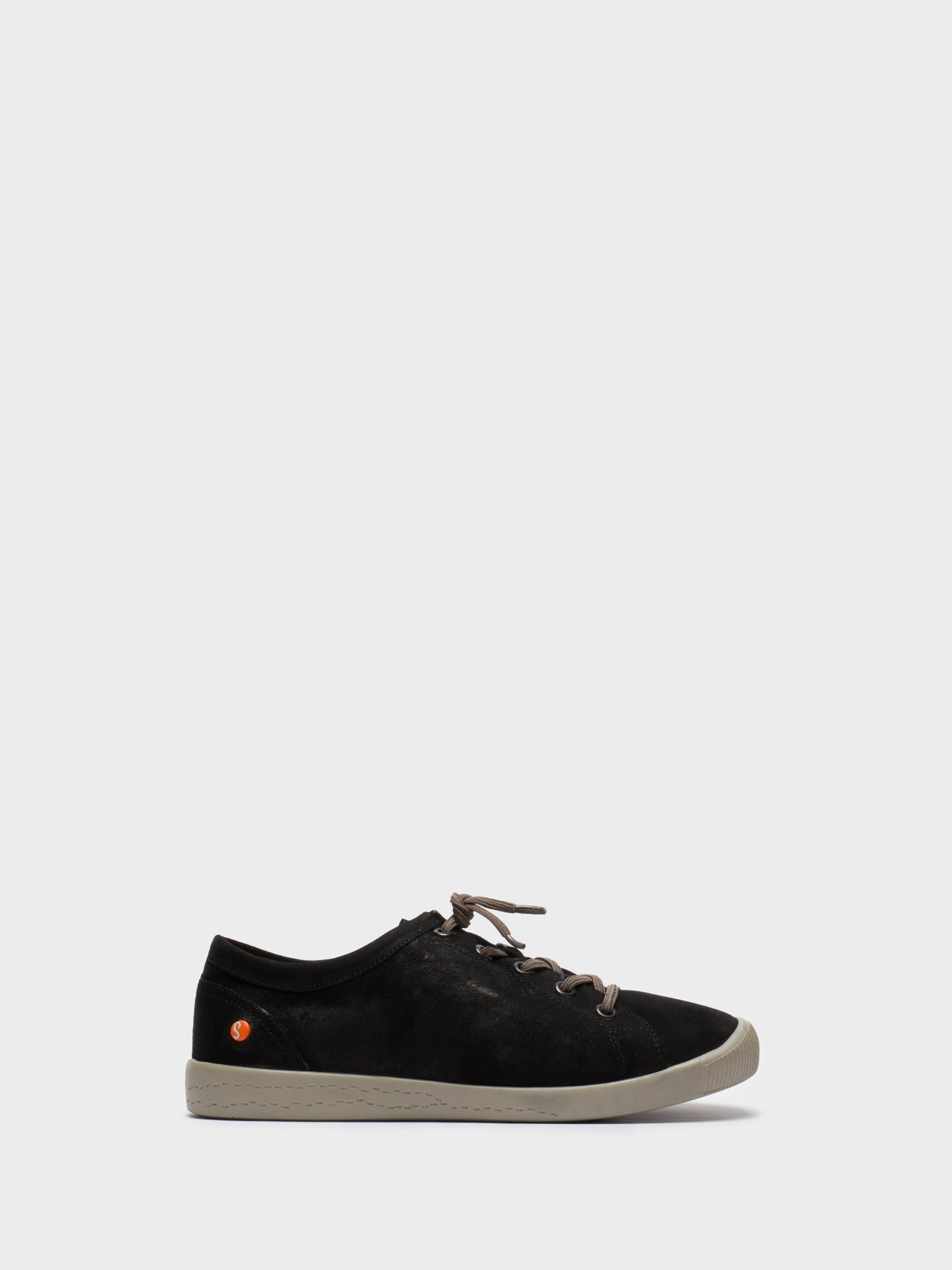 Softinos Black Low-Top Sneakers
