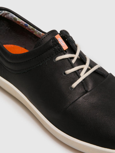 Softinos Black Lace-up Shoes