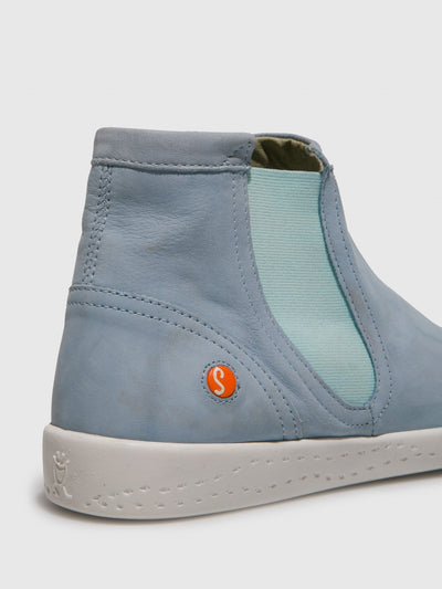 SOFTINOS Blue Chelsea Ankle Boots