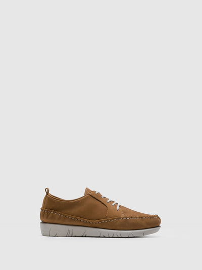 SOFTINOS Brown Lace-up Trainers