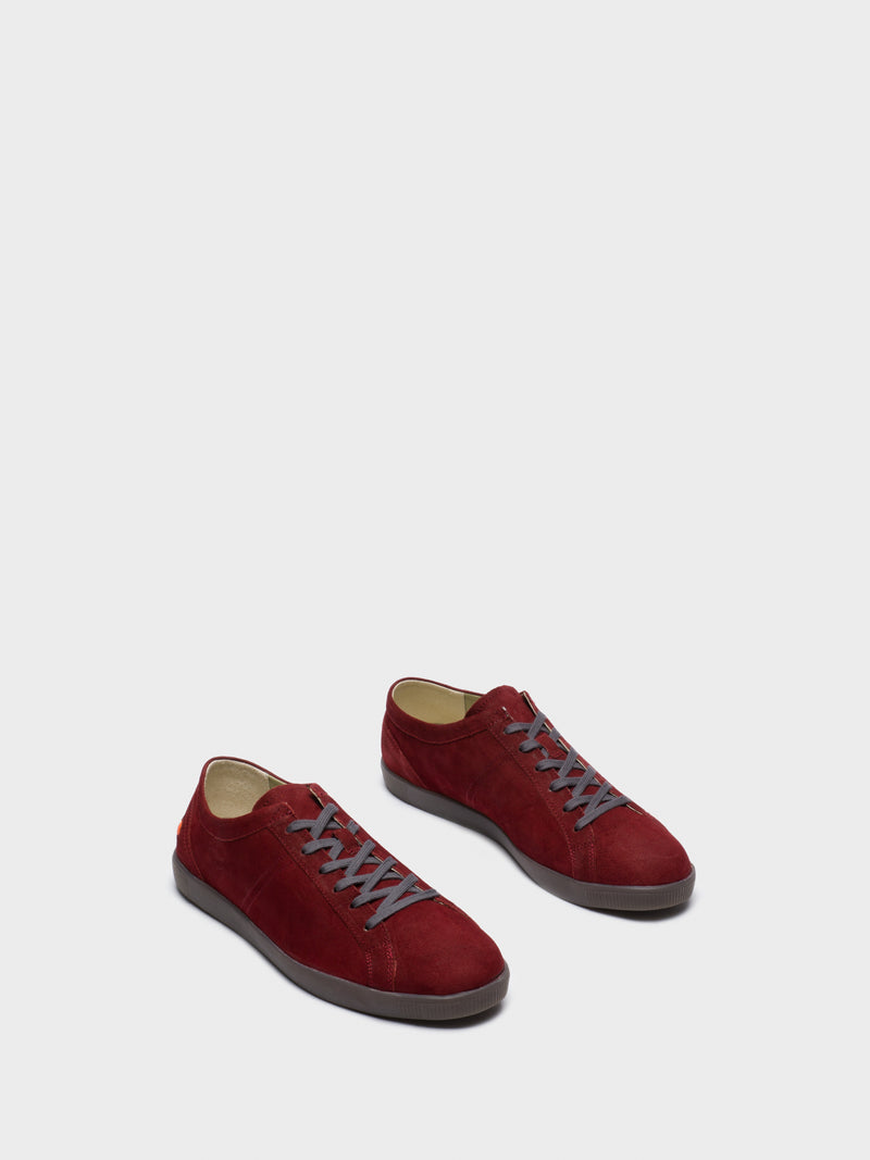 DarkRed Lace-up Sneakers