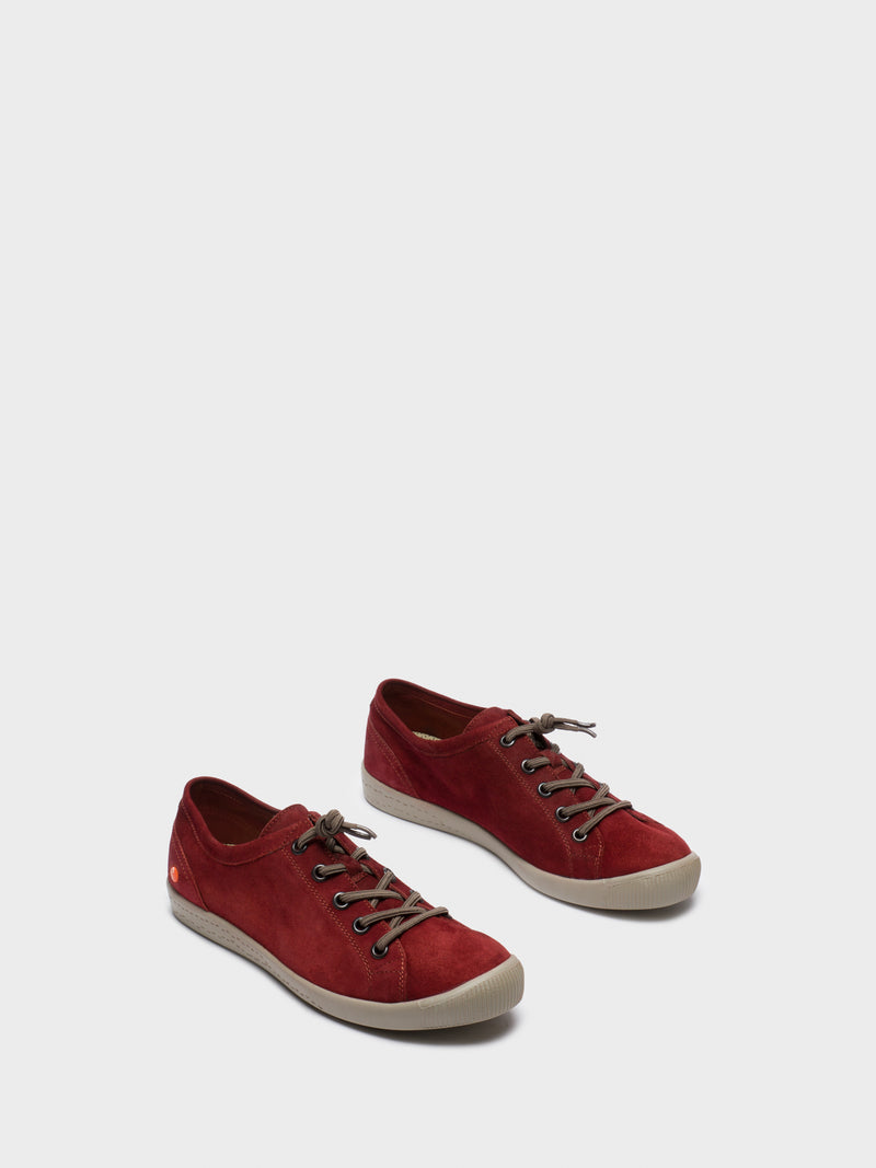 DarkRed Low-Top Sneakers