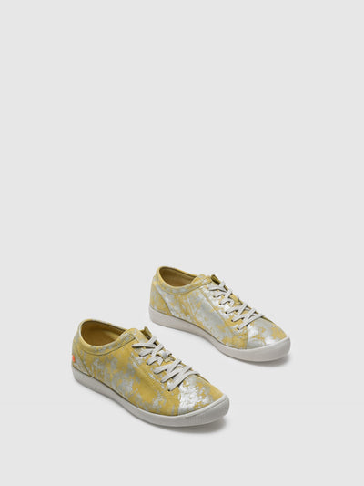 SOFTINOS Beige Lace-up Trainers