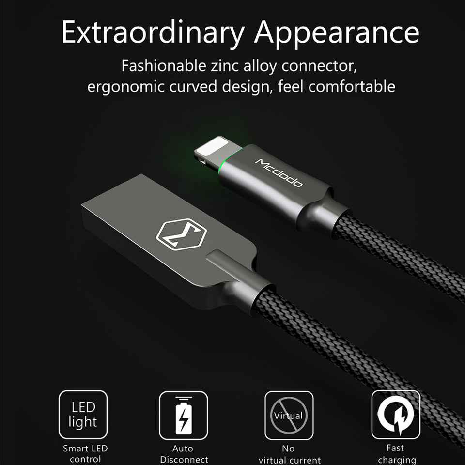 Mcdodo™ Auto Disconnect Lightning Cable - Lightning Cable - Camera Commando