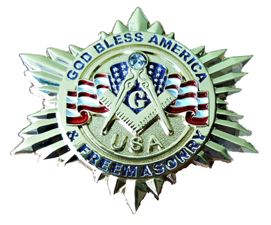 GOD BLESS AMERICA AND FREEMASONRY LAPEL PIN ! patriotic collection (MMP-GBA&FM)