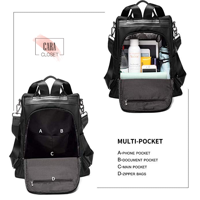 "CARA SAMMY 2.0: Anti-theft Backpack & Shoulder Bag (Fit for Tablets & Laptops 13.3"")"