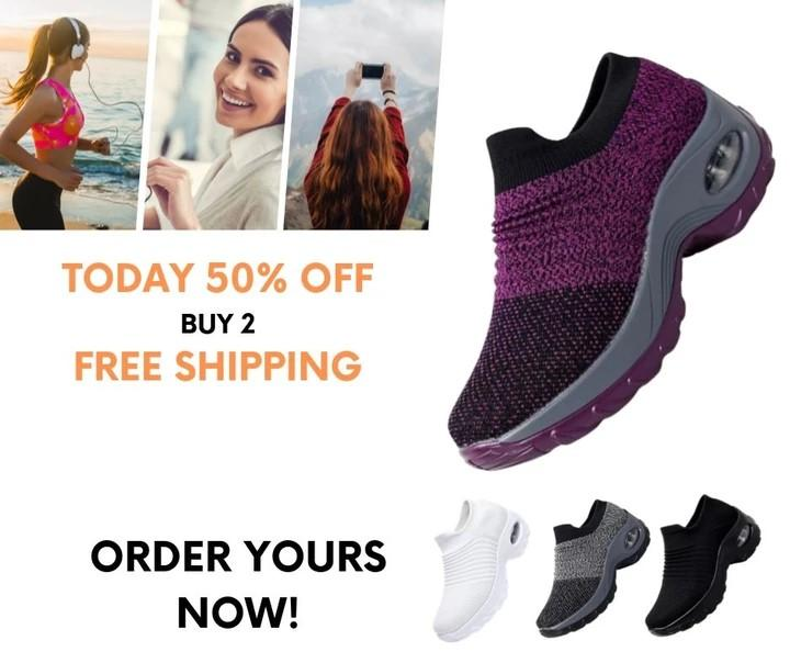 COMFY WALK: Women's Breathable Air Cushion Sneakers