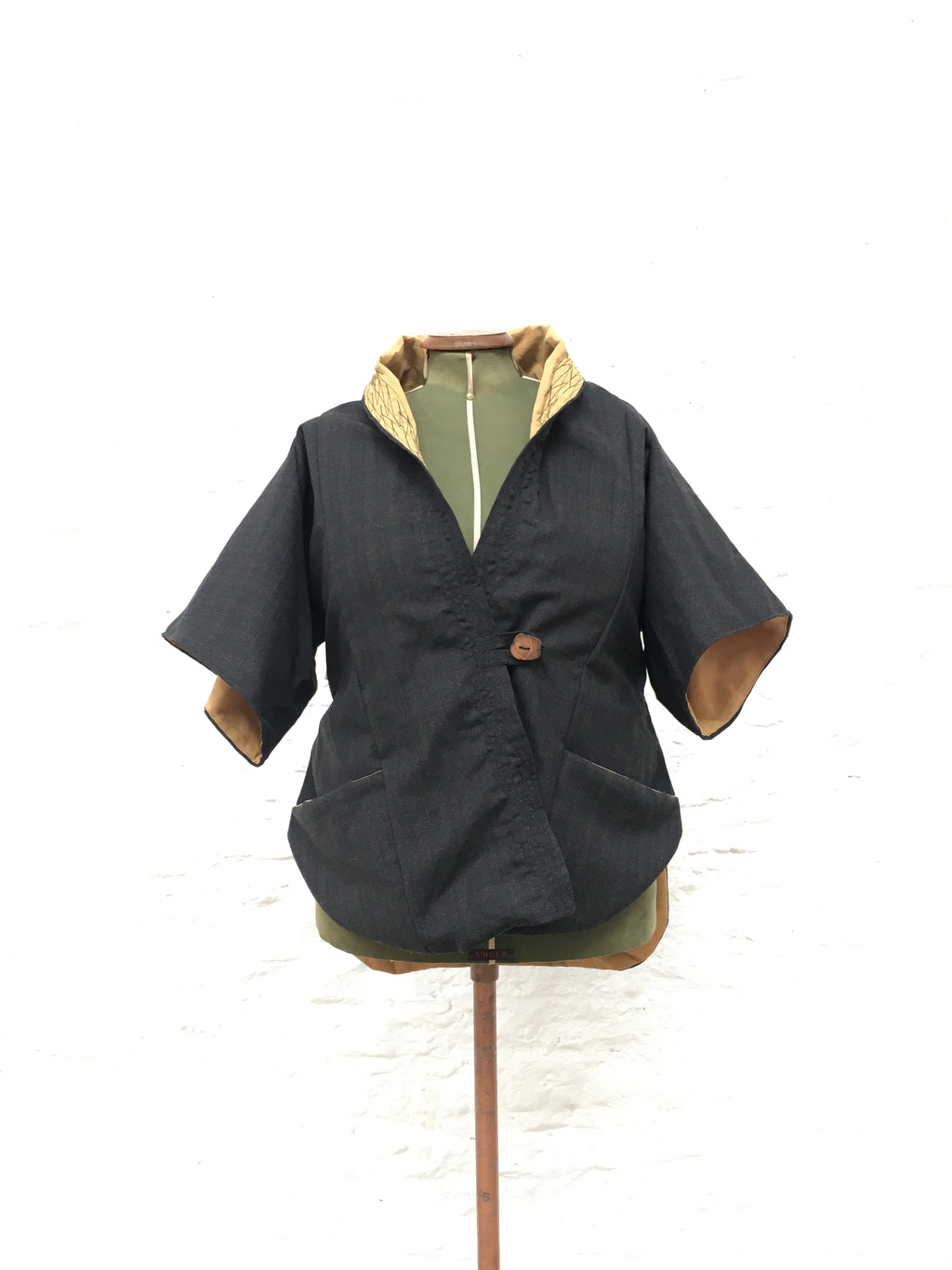 Lined Tailed Jacket | Charcoal