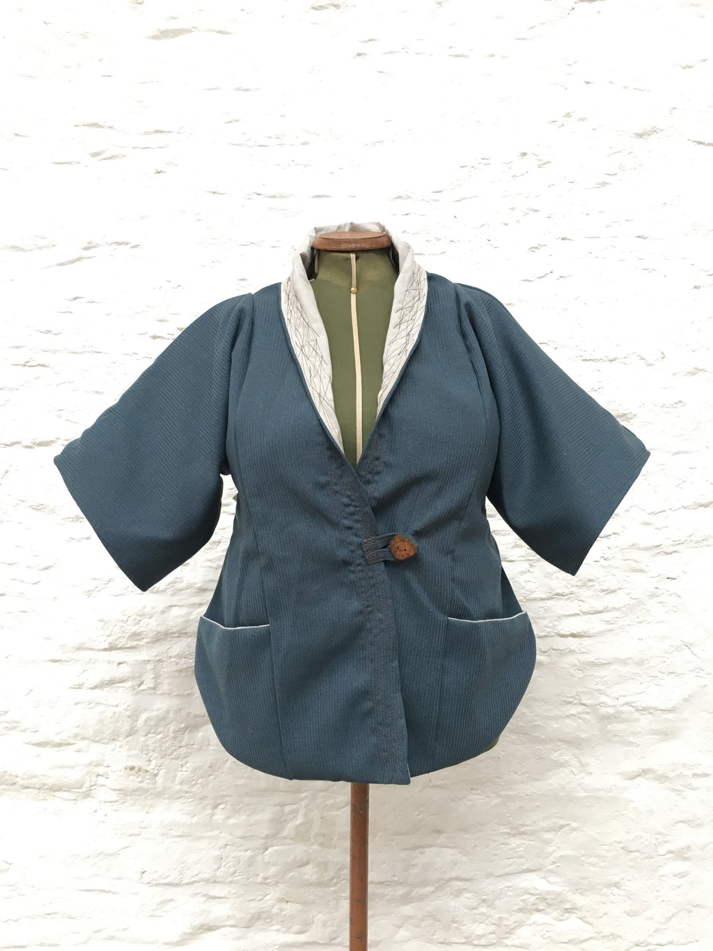 Lined Tailed Jacket | Blue