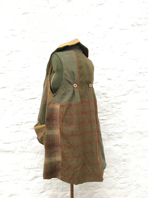 Tailed Waistcoat | Green/Brown/Orange