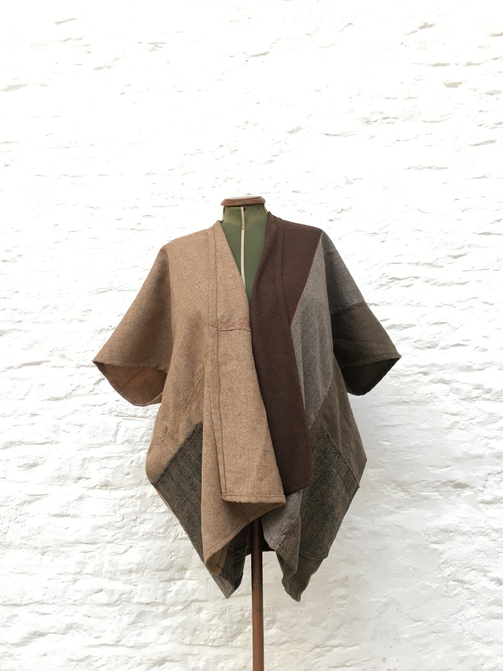 Tweed Cocoon Coat | Brown