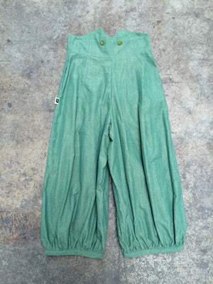 High waisted trousers/green - MADE TO ORDER