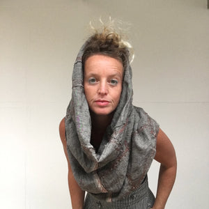 Fragment Linen Snood | Grey