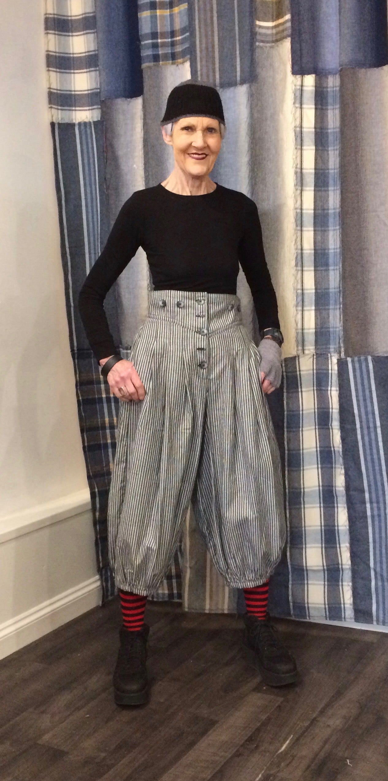 Stripe High waisted trousers - MADE TO ORDER