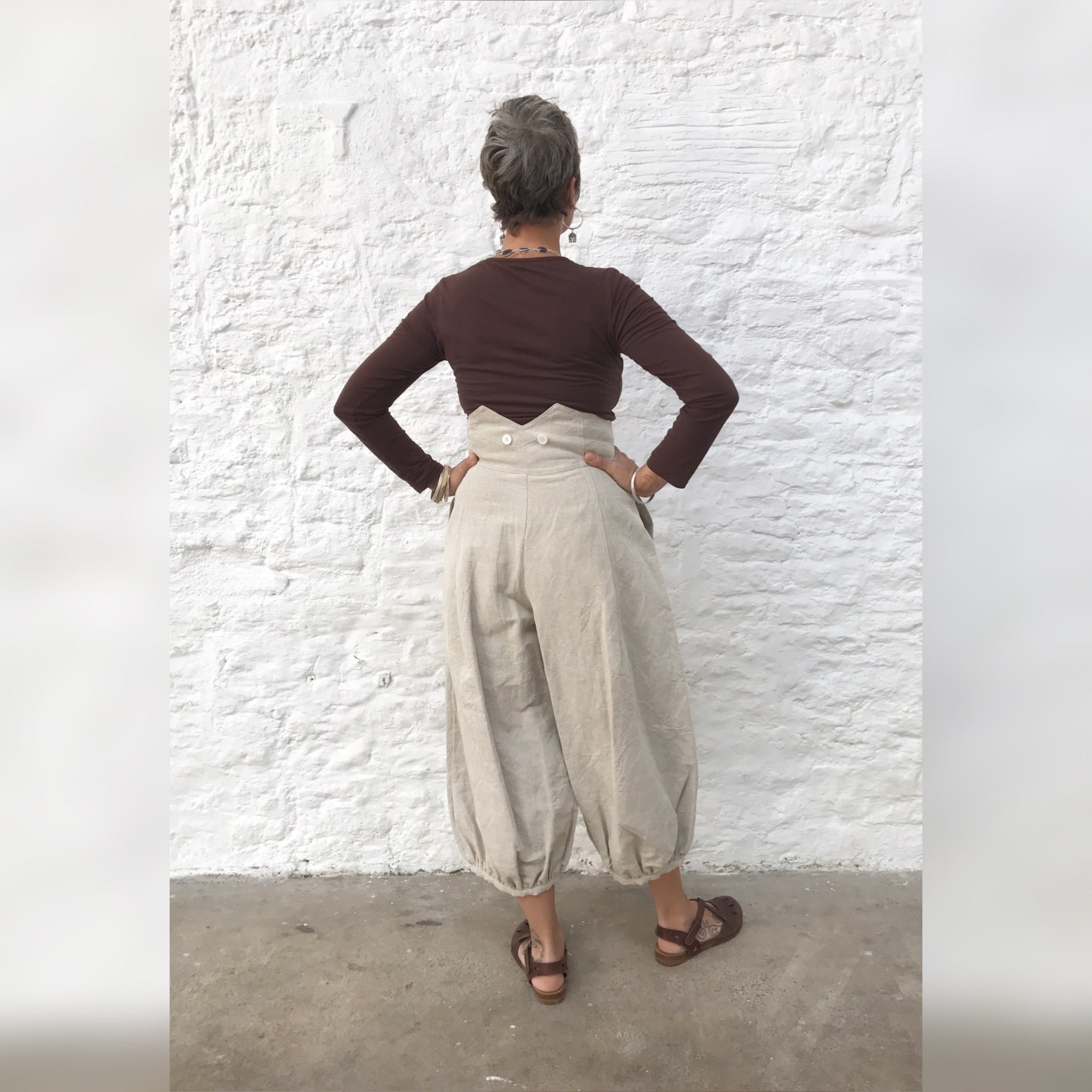 High wasted trousers - cream