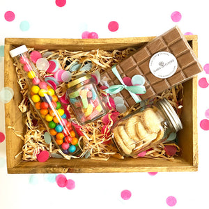 Party Box - Barra de chocolate, galletas y dulces