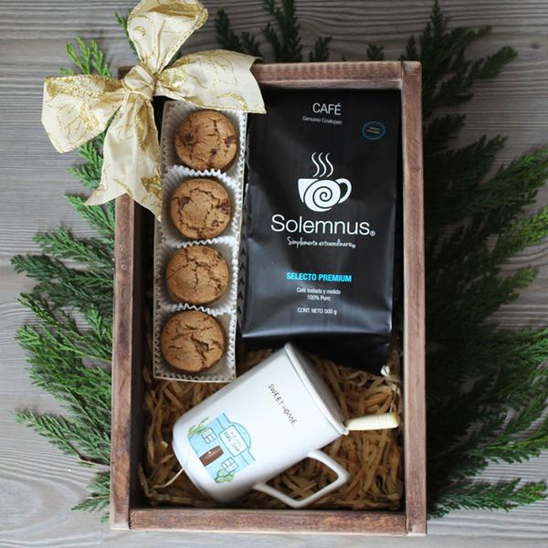 Coffee And Cookies Box - Café, galletas y taza