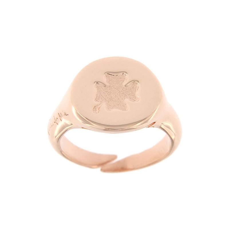 Pinky Four-Leaf Clover Ring
