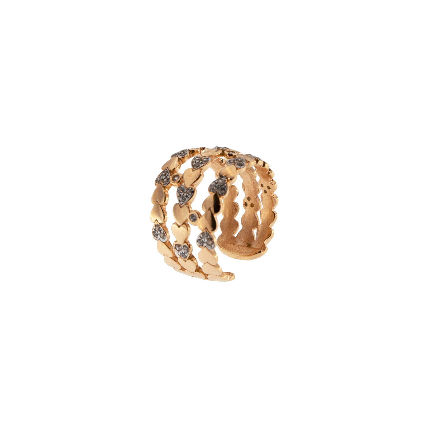 Rings - Hearts Ring 3 Wires - 1   Rue des Mille
