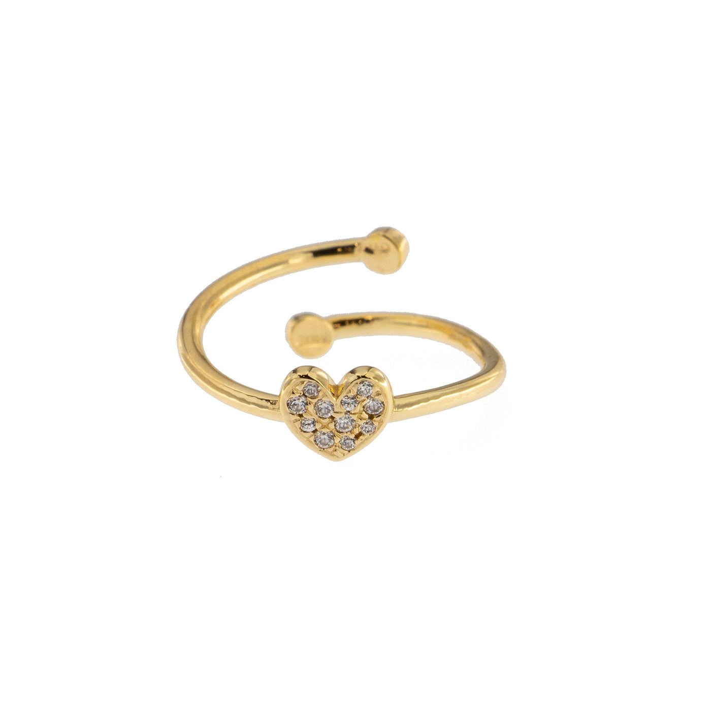 Rings - Zirconia Cubic Heart Ring - 2 | Rue des Mille