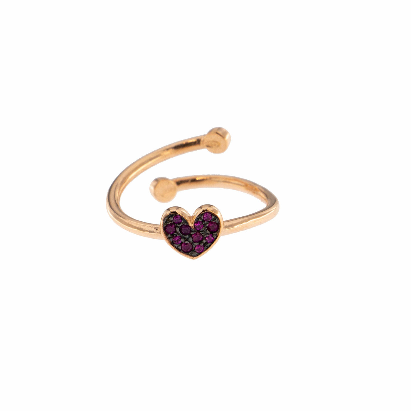 Rings - Zirconia Cubic Heart Ring - 1 | Rue des Mille