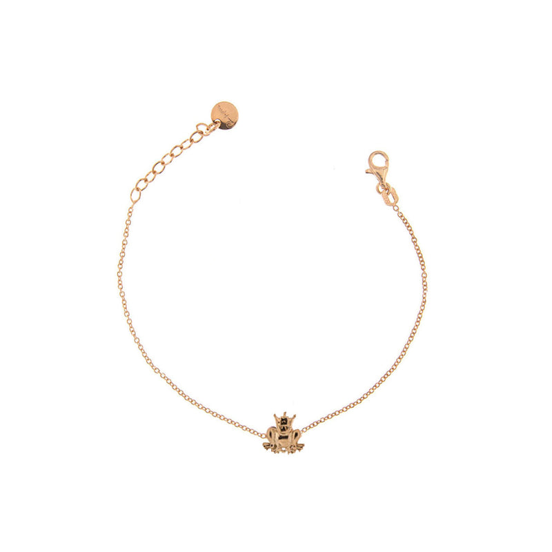 Bracelet rounded central subject - frog