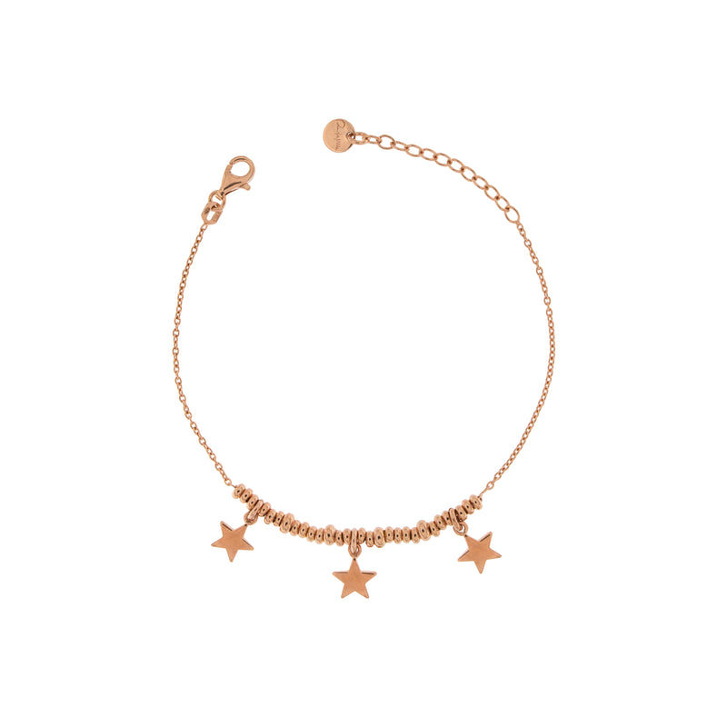 Bracelet with Three Stars and micro circles