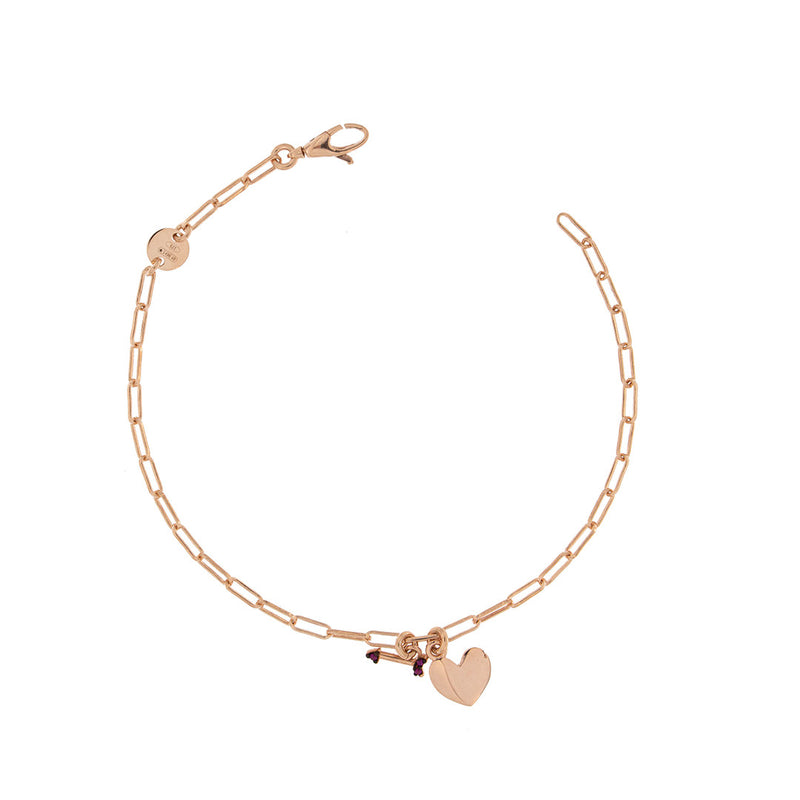 Chian Bracelet Heart/Arrow