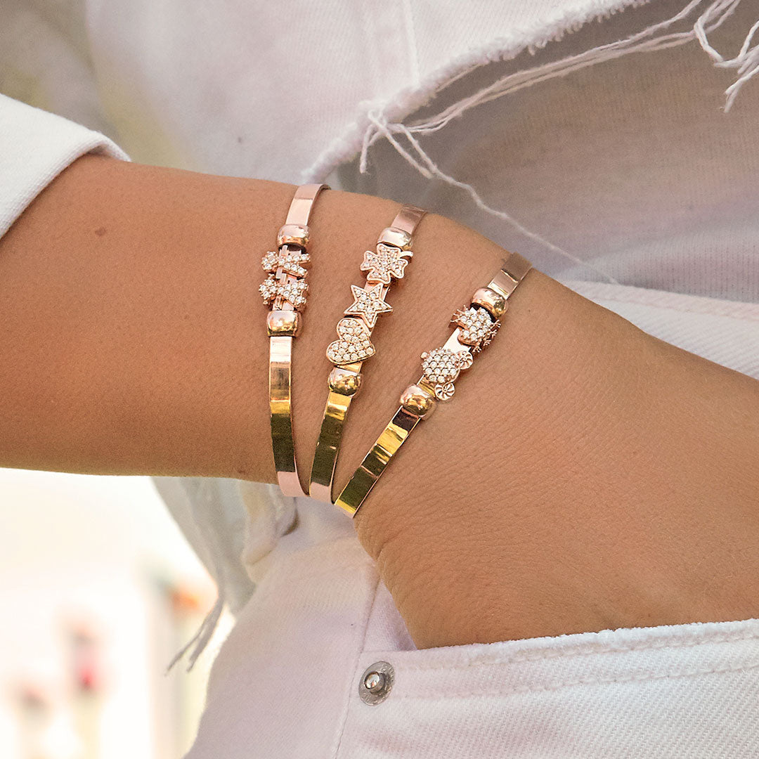 Moments - Moment Heart with Zircon for Carousel Bracelet and Choker - 2 | Rue des Mille