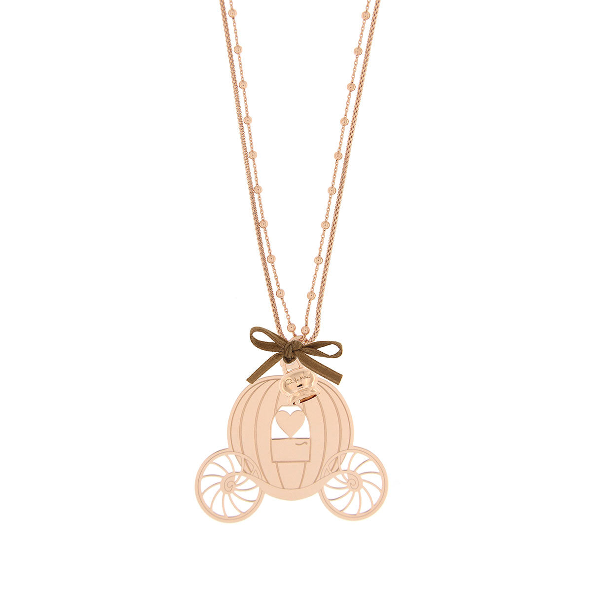 Necklaces - Double Chain Necklace with Carriage - 1 | Rue des Mille