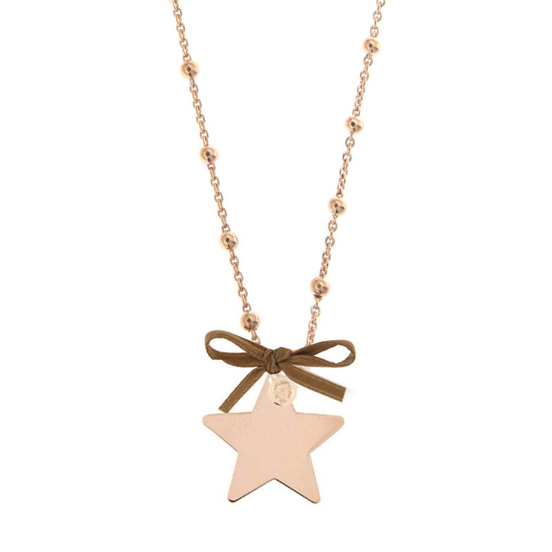 Beaded Necklace Star Pendant