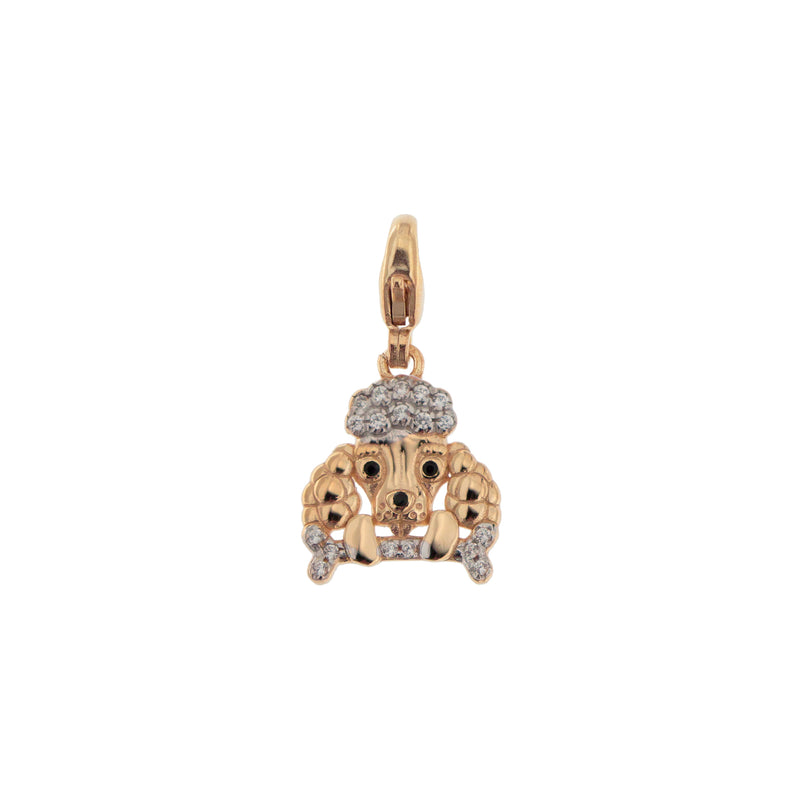 Pendant Poodle With Zirconia