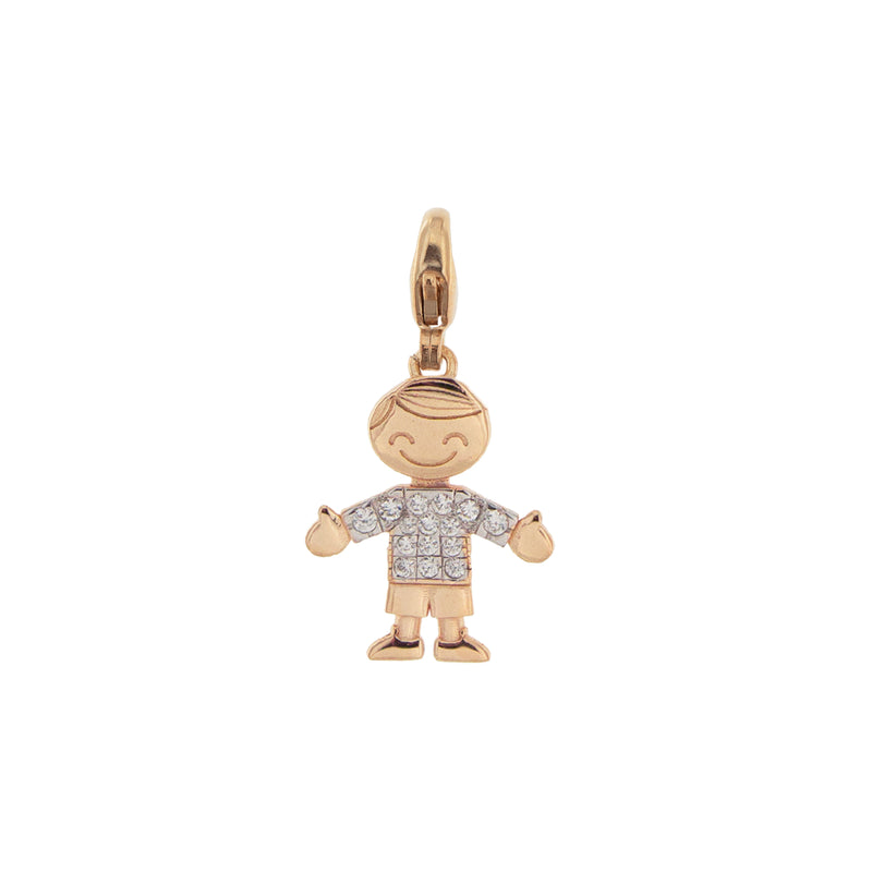Pendant Little Boy With Zirconia