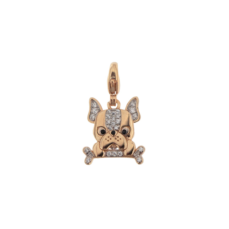 Pendant Bulldog With Zirconia