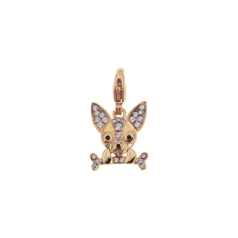 Pendant Chihuahua With Zirconia