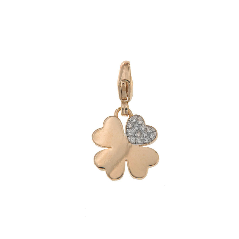 Clover pendant with zircons