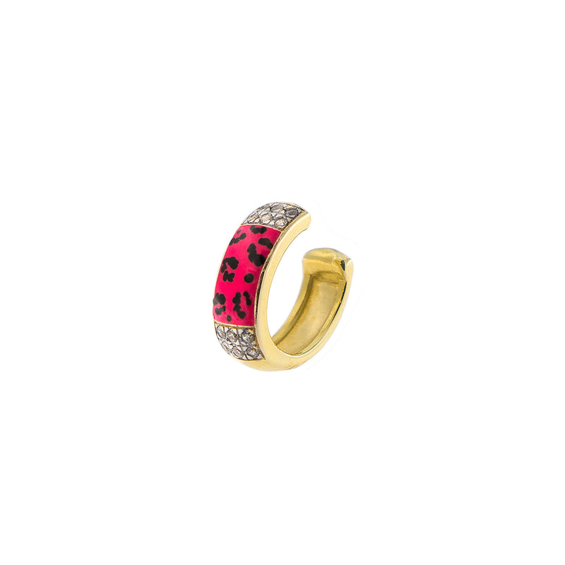 Earcuff with Zirconia - Leopard Print